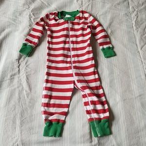 Hanna Andersson Christmas Pajama Onesie 12-18 mo